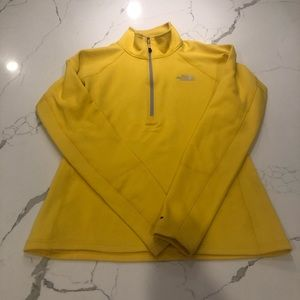 Yellow North Face 3 Quarter Zip